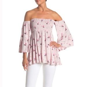 NWT Free People Lana Off the Shoulder Tunic Top